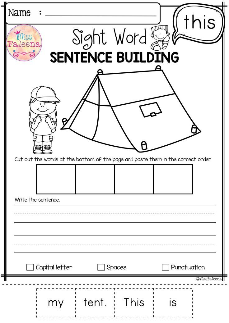 free sight word sentence building great teaching resources from tpt. Black Bedroom Furniture Sets. Home Design Ideas