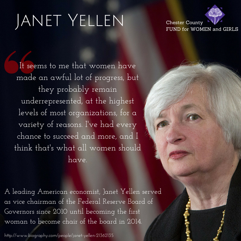 Janet Yellen First Woman To Become Chair Of The Federal Reserve Board Women Janet Yellen Girl