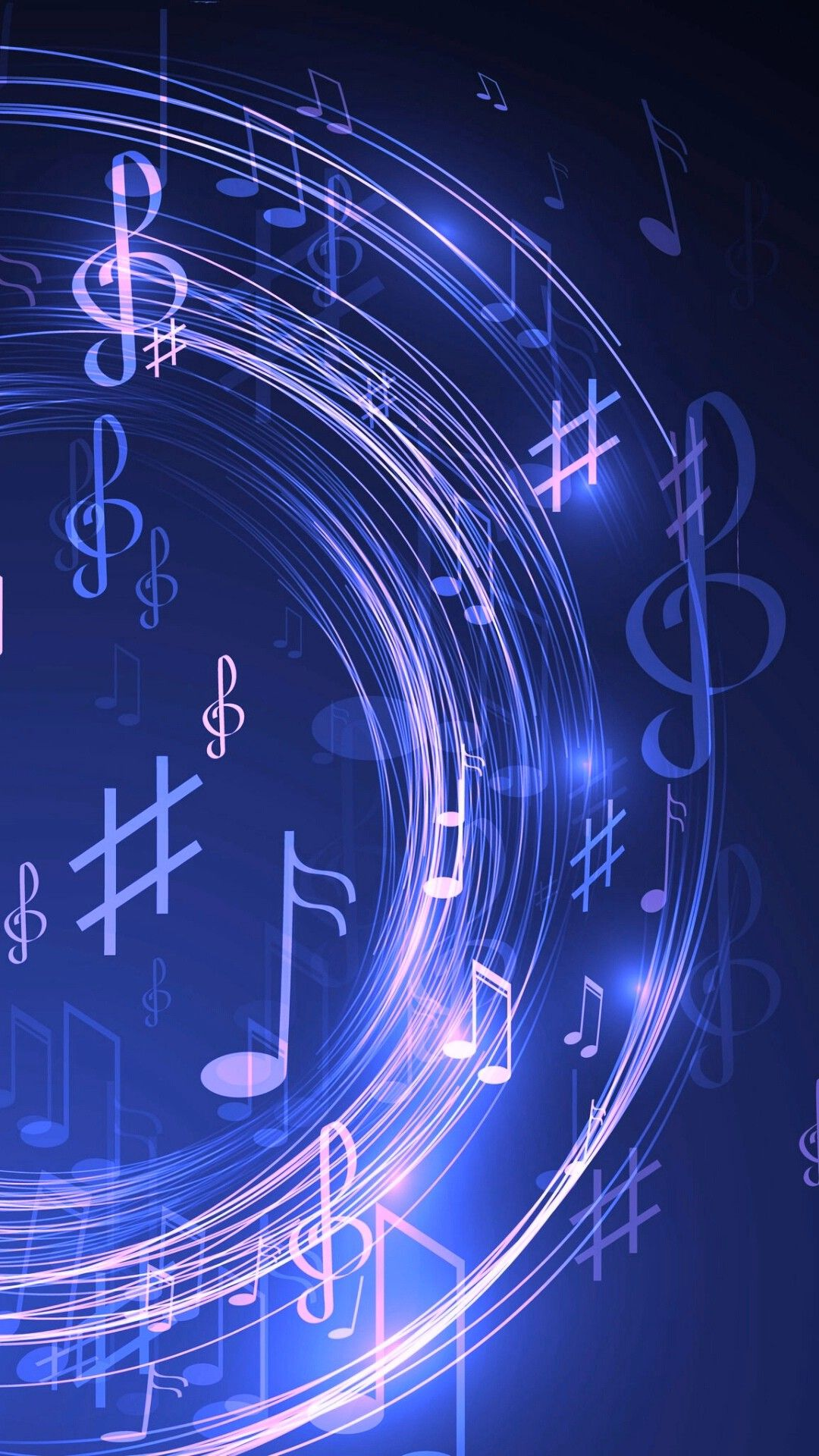 Pin By Wynn Lynn Advertisement On Blue Music Wallpaper Music Notes Music Pictures