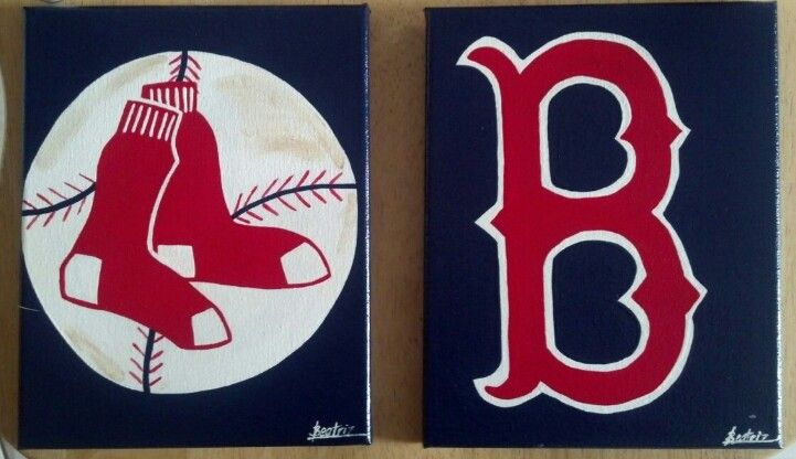 Boston Red Sox Acrylic Paintings Both On 8 X 10 Canvases Facebook