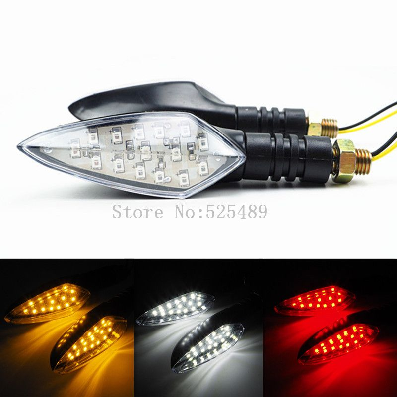 2x 5 Colors Motorcycle Turn Signal Light Led Indicator Blinker