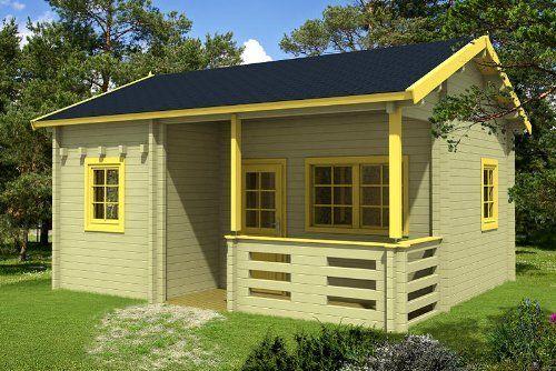 Gartenhaus Schlafboden Blockhaus 595 X 500 Cm Holzhaus 70 Mm Holz Tiny Houses For Rent Tiny House Listings Tiny Living