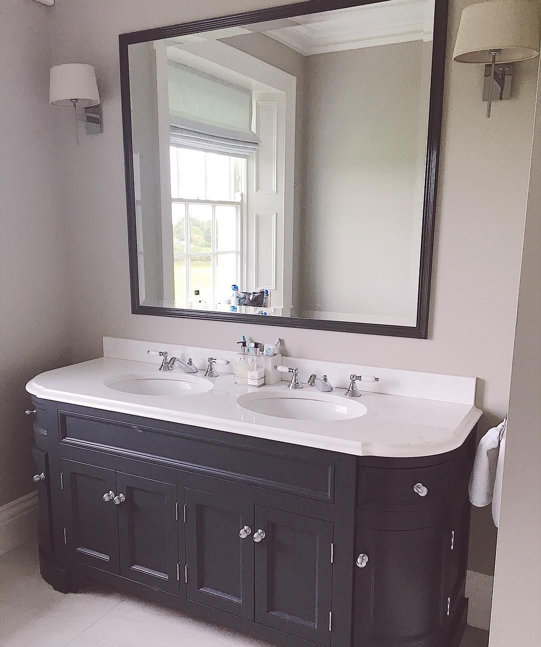 The Irish Country Home On Instagram My Vanity Unit Minus The 5000 Products It Takes To Try And Make Me St His And Hers Sinks Bathroom Renovation Vanity Units