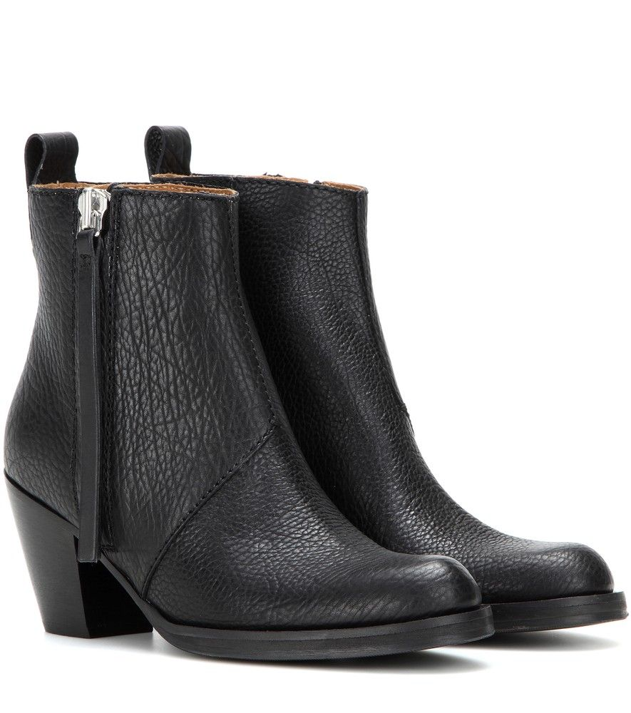 Acne Studios - Pistol Short leather ankle boots - No model, editor, or  blogger 8430d8a808f