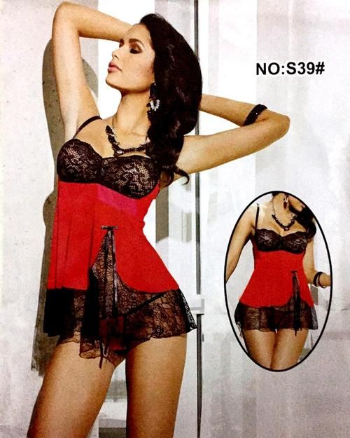 Buy Romantic Silk Short Nighty For Women