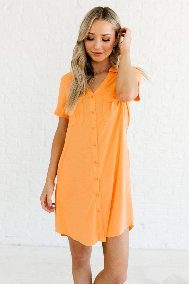 c3297e1d57 Business Chic Orange Mini Dress in 2019 | :Mom Attire: | Dresses ...