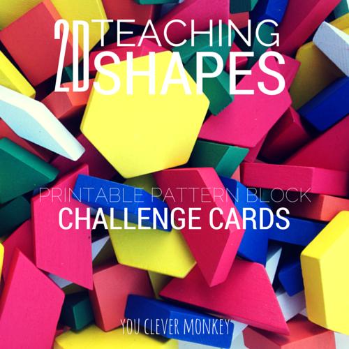 2d Shape Pattern Block Challenge Cards 2d Shapes Pattern Blocks