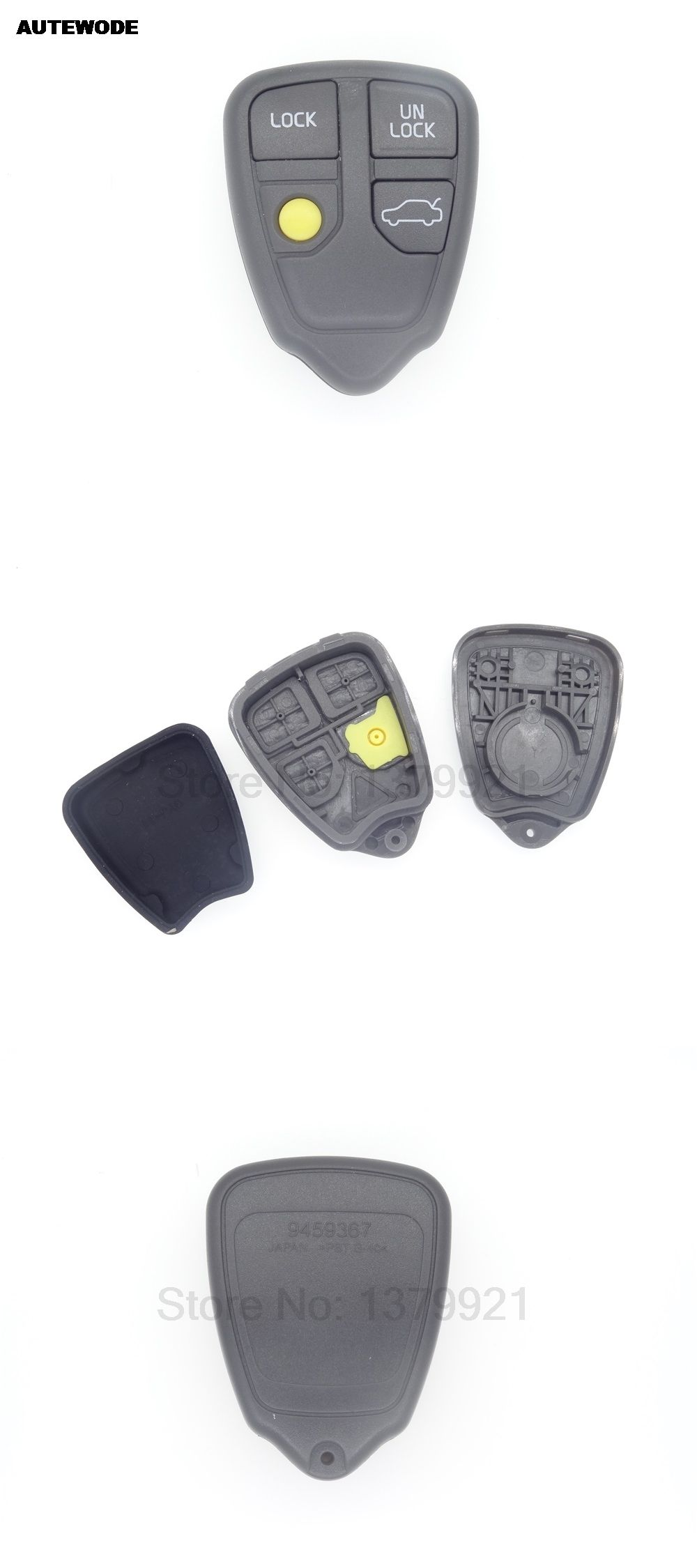 autewode replacement remote 4 buttons key shell cover fob car case