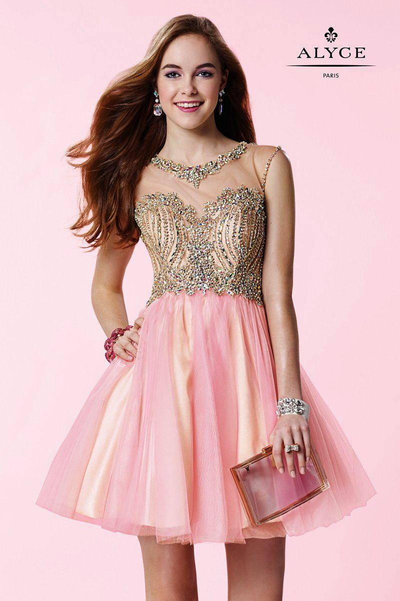 Short formal dresses evening dresses by alyce parisucbrueucbr