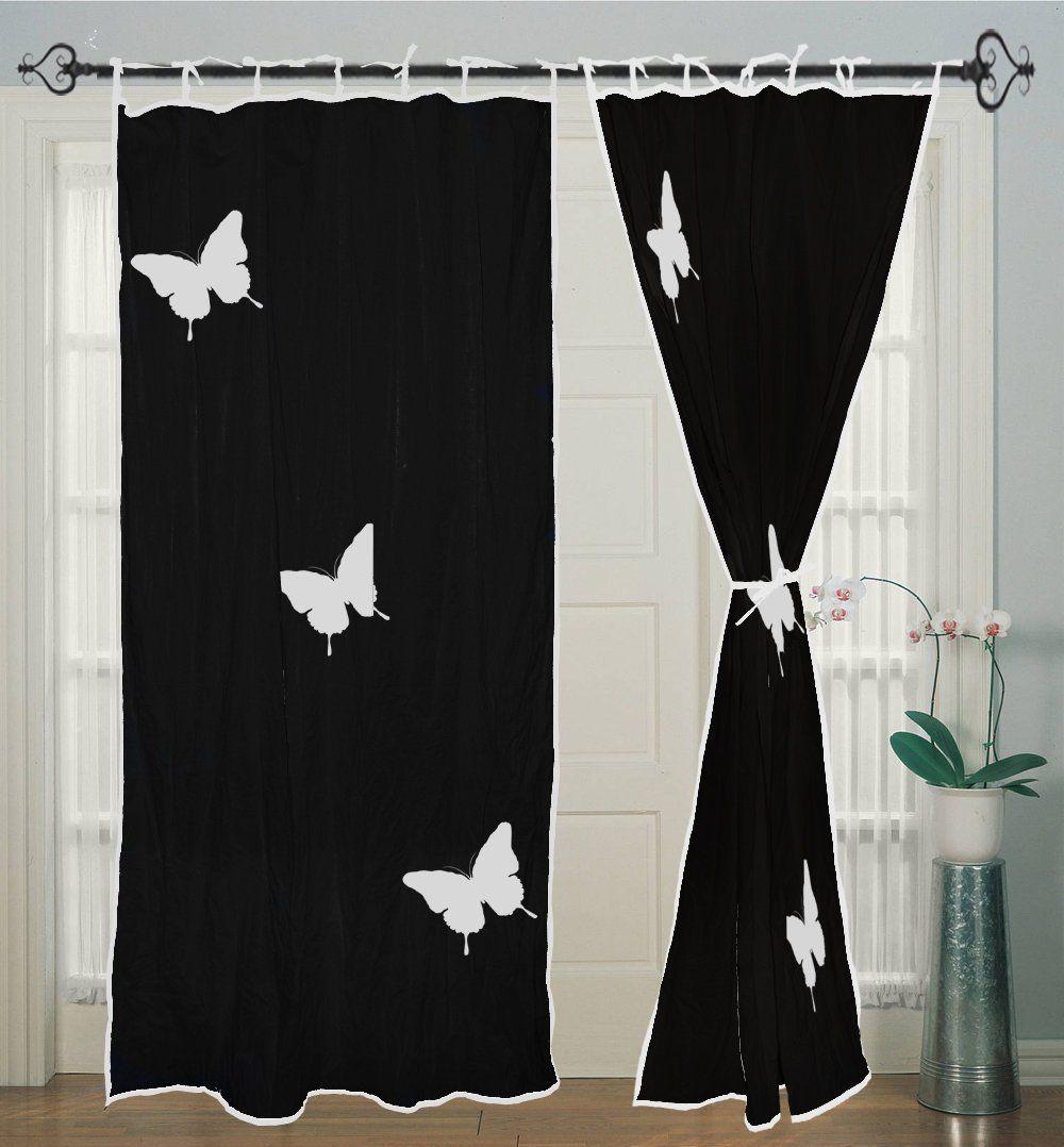 Window Curtains Curtain Black Curtain Home Decor Hand Block