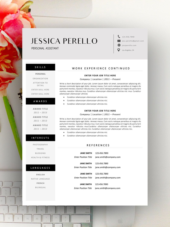Modern Resume Template, Modern Resume Design for Word 1