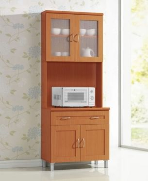 Kitchen Cabinet With Top And Bottom Enclosed Cabinet Space 1