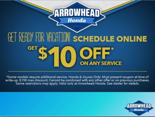 Get ready for vacation Schedule online at honda dealers az