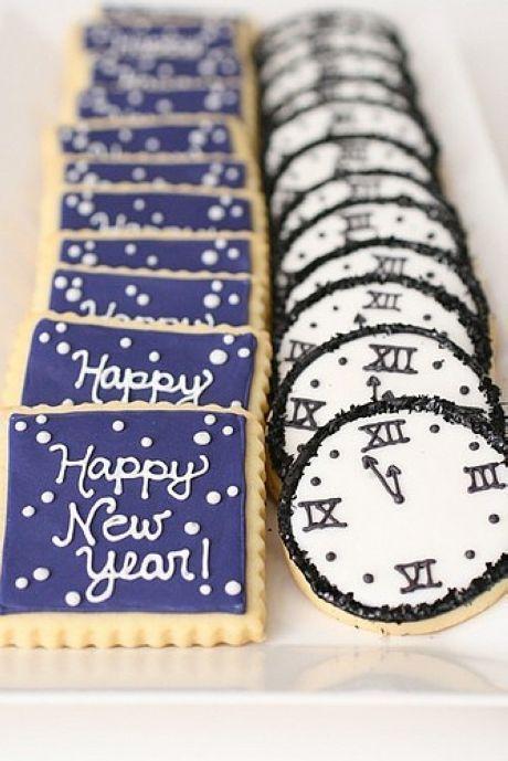 Happy new year cookies .. Cute!