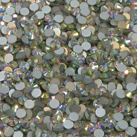 DMC Silver Foiled Crystal Glass Rhinestones Non Hot Fix ss6 Size