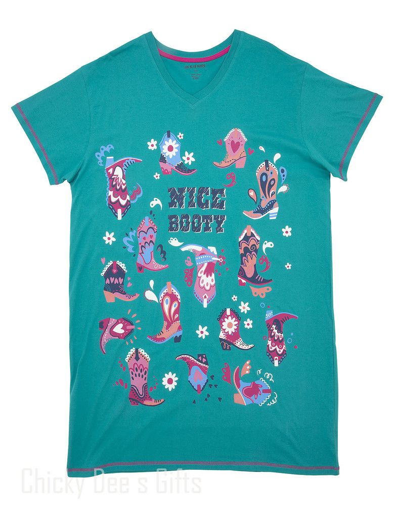 Hatley Women s ONE SIZE PJ Sleepshirt NICE BOOTY Night Shirt Mother s Day 81f245ba7