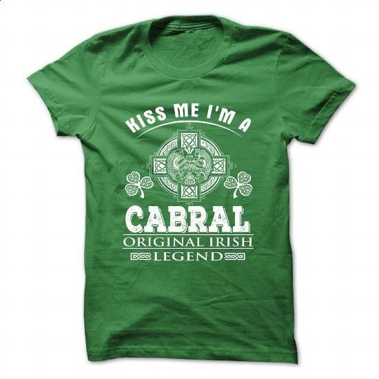 12 Kiss Me I Am CABRAL - #hipster tshirt #green sweater. MORE INFO => https://www.sunfrog.com/Camping/12-Kiss-Me-I-Am-CABRAL.html?68278