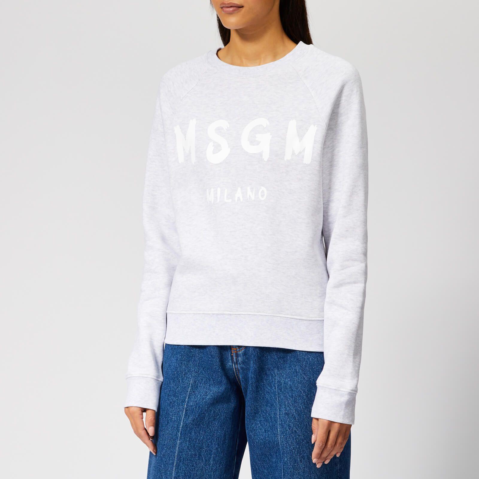MSGM Women's Sweatshirt with Logo Grey | Sweatshirts