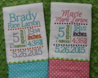 Bibs Burps and Blankets by SassyJunebugDesigns on Etsy