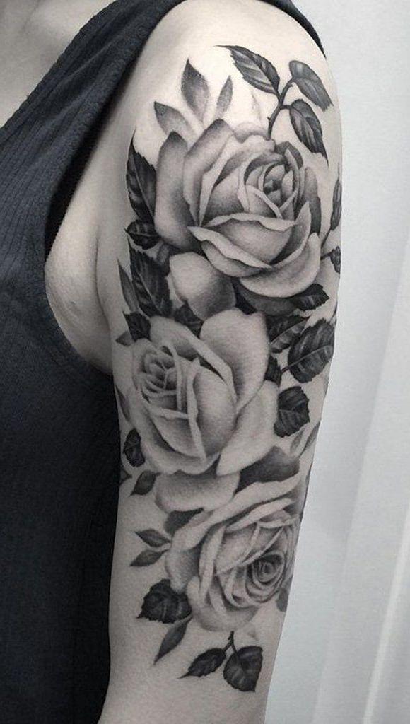 50+ Ideen für Rosen Tattoo – das Symbol der wahren Liebe #tattoovorlage #bedeutung #flowertattoo #tattoodesigns #kirchdorferburschen