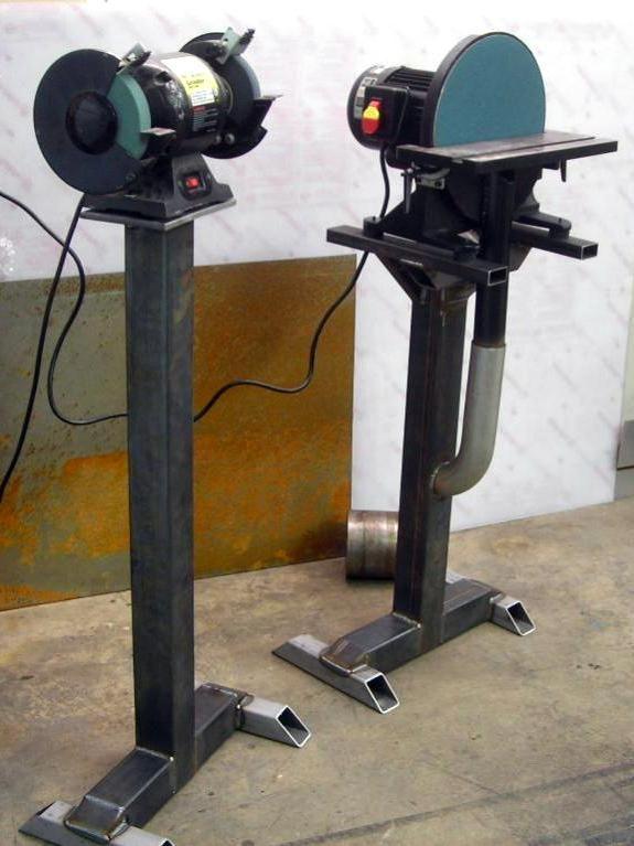 Check the grinder exhaust | Vise and Grinder Stands | Garage tools, Grinder stand, Diy tools