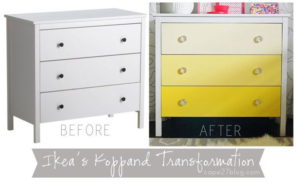 Ikea Koppang Dresser 99 Ombre Transformation Ben Moore S Glimmer 342 Darkest Lightning Bug 340 Middle And Early Dawn 338 Lightest Clear