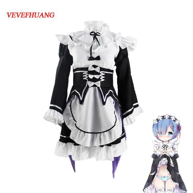 Life In A Different Eorld From Zero Ram Rem Cosplay Costume Anime Coat Comic
