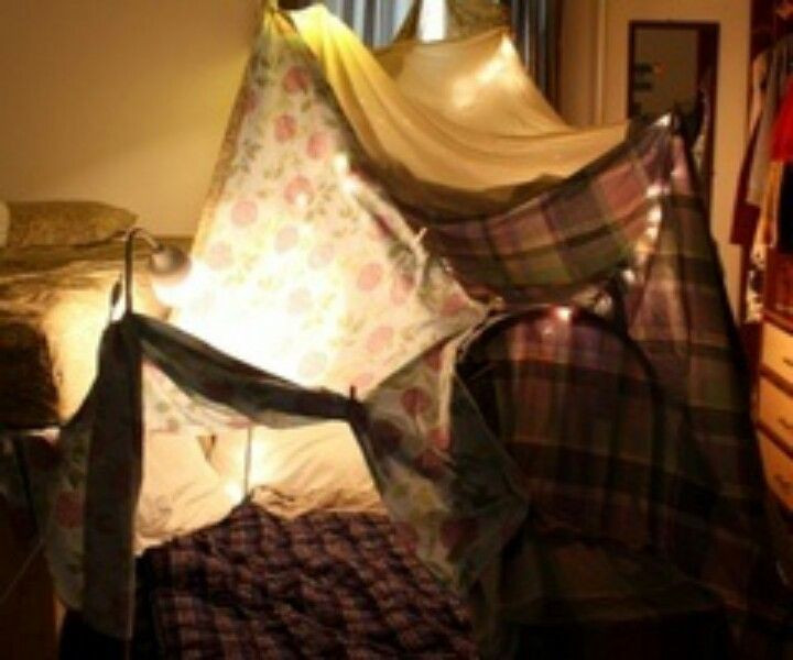 Build a fort with someone and sleep in it | Blanket fort ...