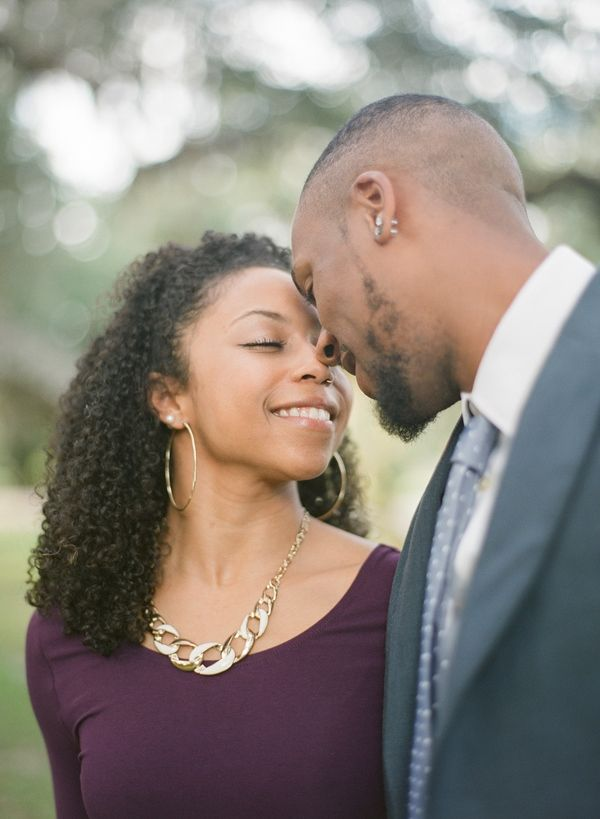 Nicole and Malcolm had a beautiful outdoorsy engagement shoot in Louisiana.