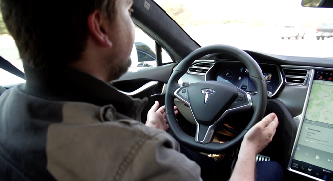 Watch This Self-Steering Tesla Model S Drive Itself (And ...