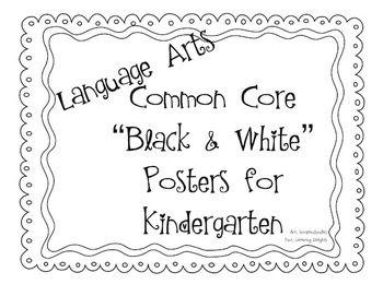 Common Core Standards Posters: Kindergarten Language Arts