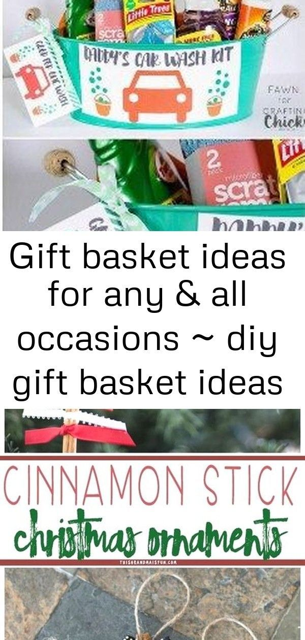 Gift basket ideas for any & all occasions ~ diy gift basket ideas #boyfriendgiftbasket