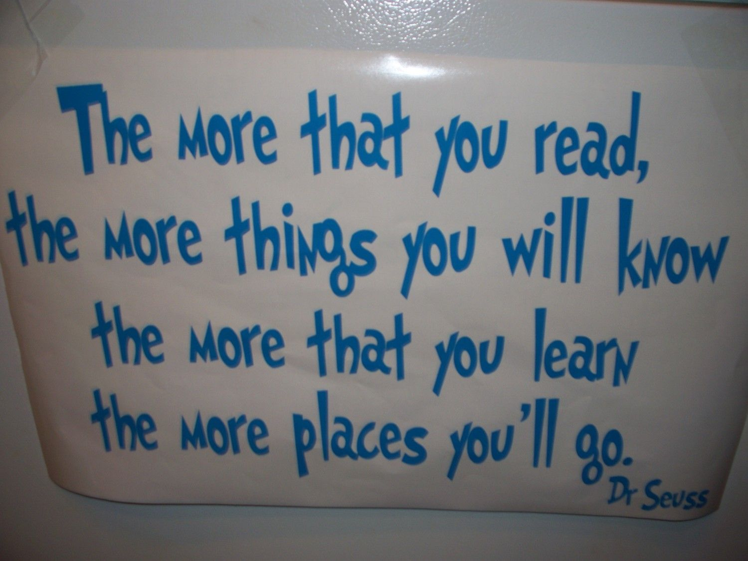 Dr Seuss Wall Decal The More That You Read Vinyl By