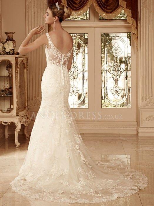 Lace Wedding Dress with Buttons