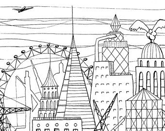 Urban Building Coloring In Urban Munity Coloring Pages