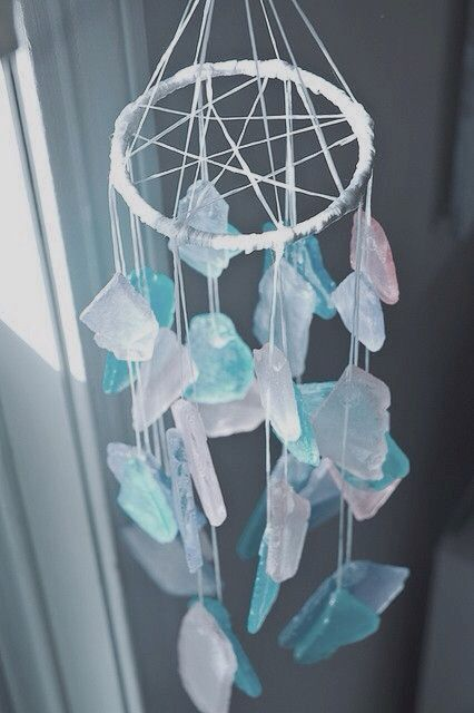 Dreamcatcher With Crystals Diy Glass Wind Chimes Wind