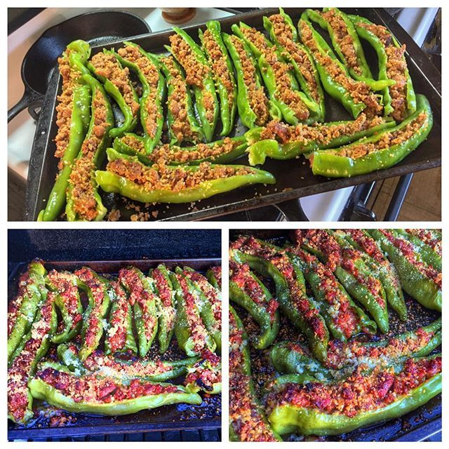 Tried My Hand At Some Stuffed Long Hots Longhotpeppers Longhots Magliohotitaliansausage Ste Cooking Stuffed Peppers Stuffed Hot Peppers Hot Appetizers
