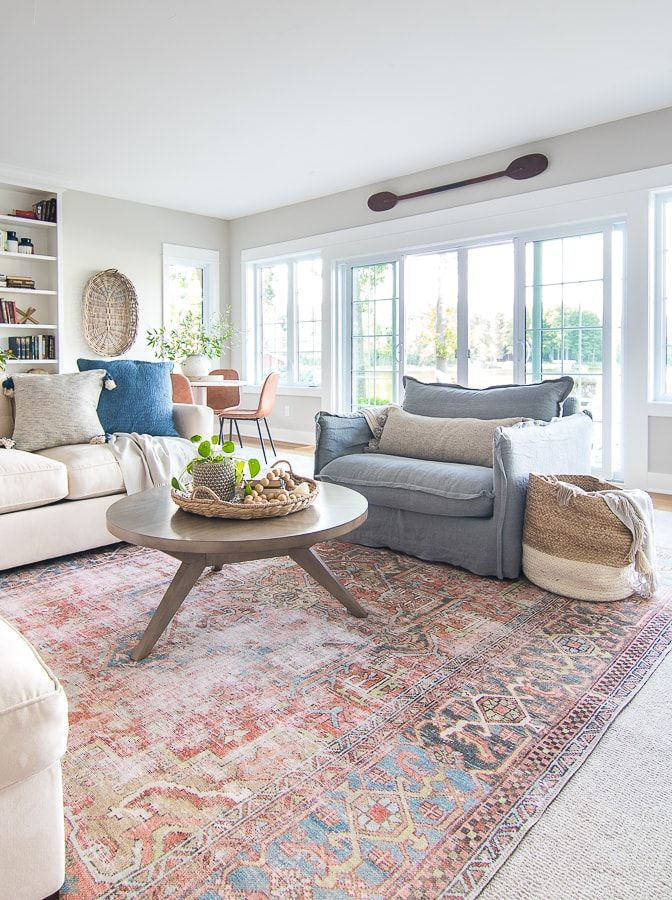 47++ Large round rug in living room information