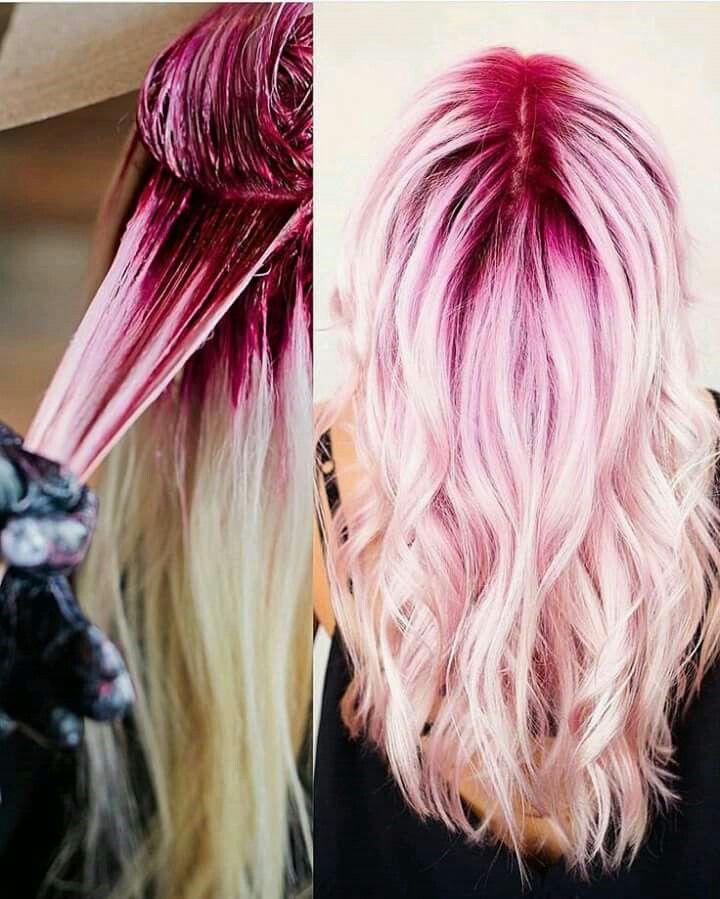 Pink & white hair