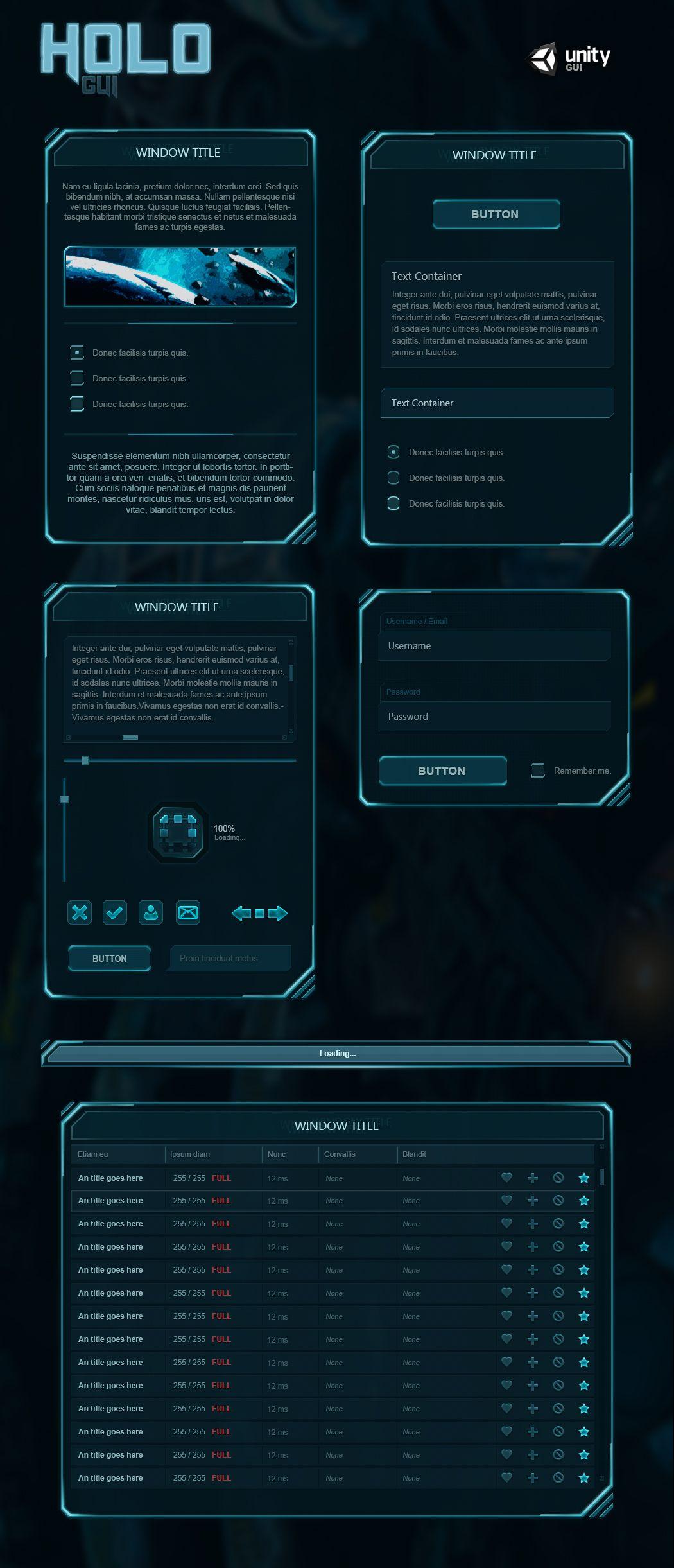 Holo GUI by Evil-S deviantart com on @DeviantArt | Game UI