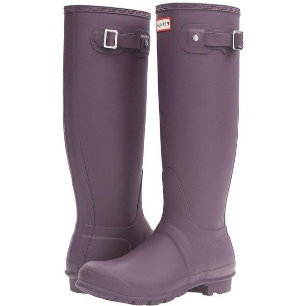 Hunter Original Tall (Purple Urchin) Women's Rain Boots ($150) ❤ liked on