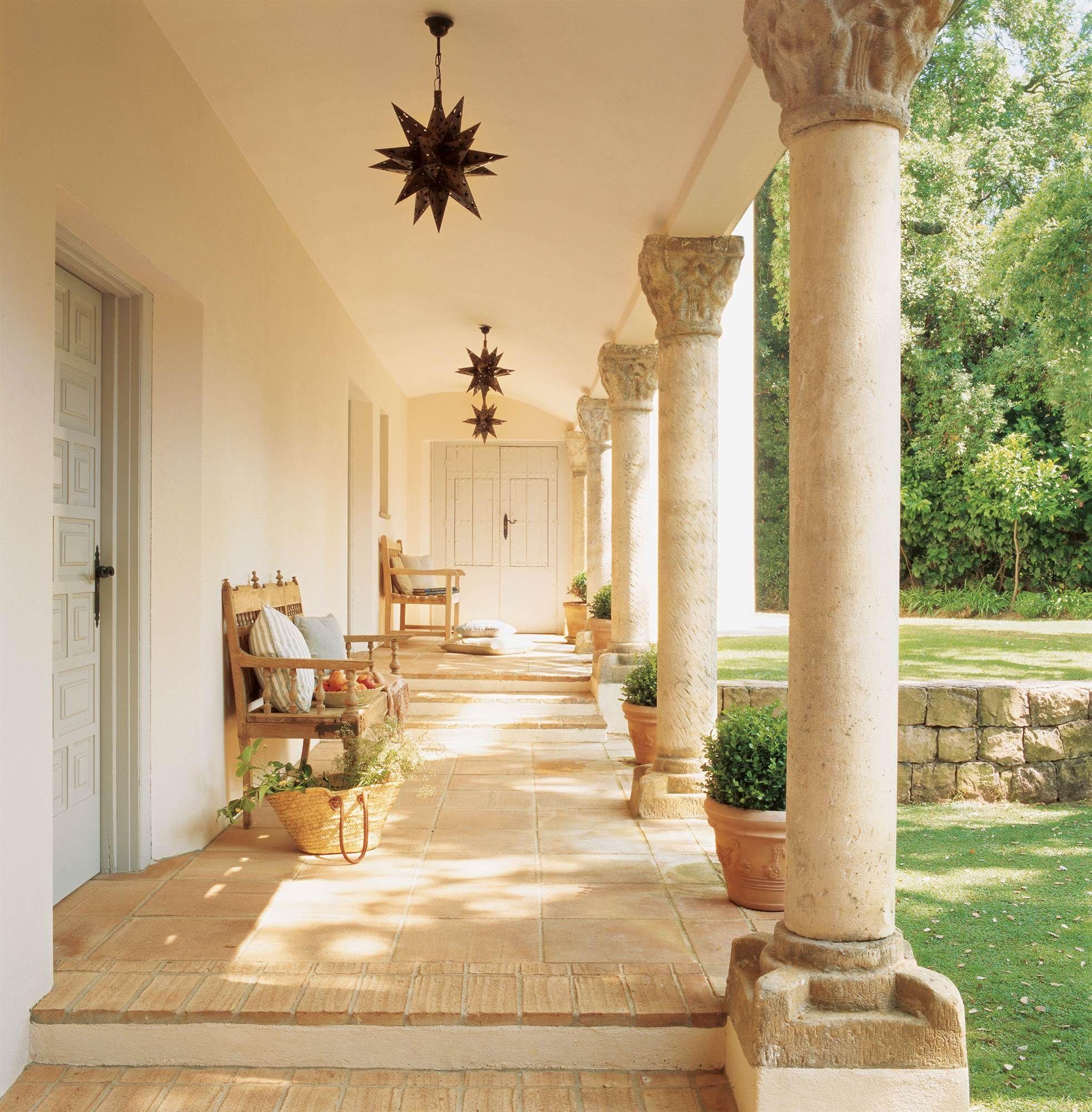 La Galería Exterior Porche Iluminación Porches Casas Y