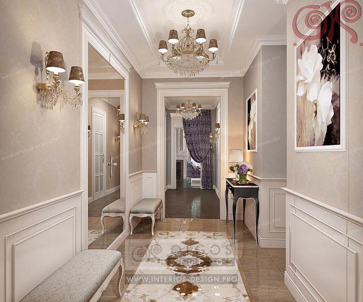 Home Hallway Design Ideas: Стол и пуфик. Мрамор на полу = НЕТ!