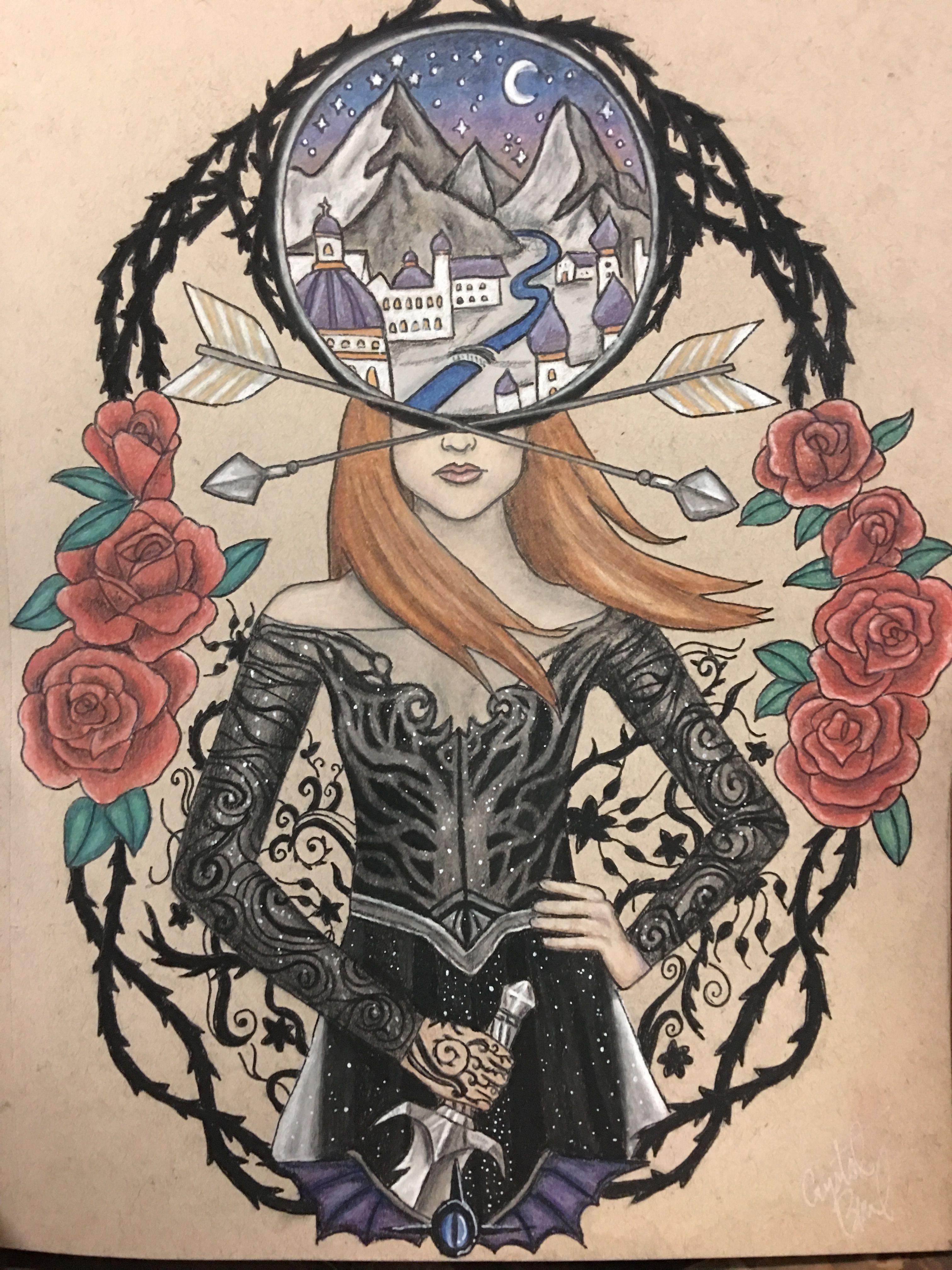 Acotar Tattoo Design Mscrystalbeard Throne Of Glass A Court Of