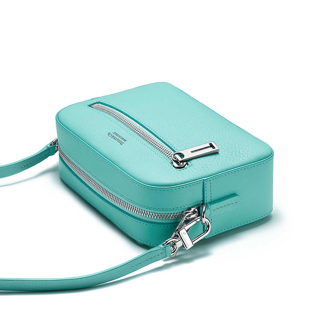 Crossbody Bag In Tiffany Blue Grain Calfskin Leather Tiffany Co Purses And Handbags Trending Handbag Affordable Bag