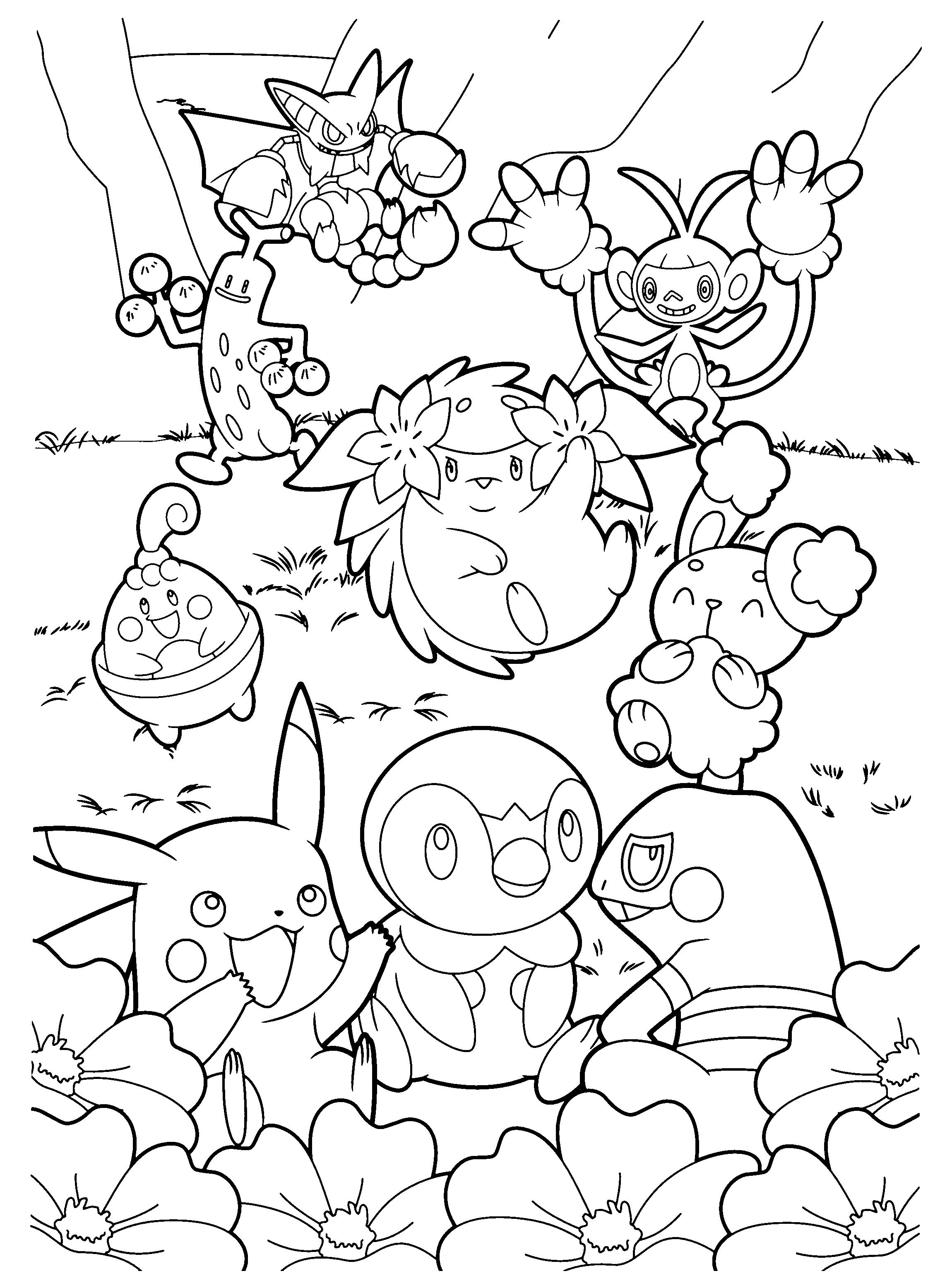 Pokemon diamond pearl coloring pages V ritysteht vi