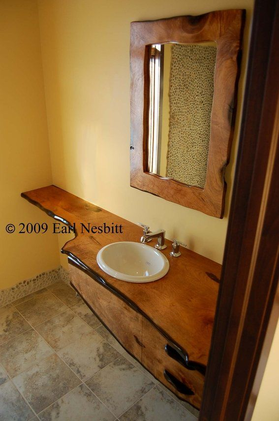Custom Made Mesquite Bathroom Countertop Mirror Bathroom Beauteous Custom Bathroom Countertops