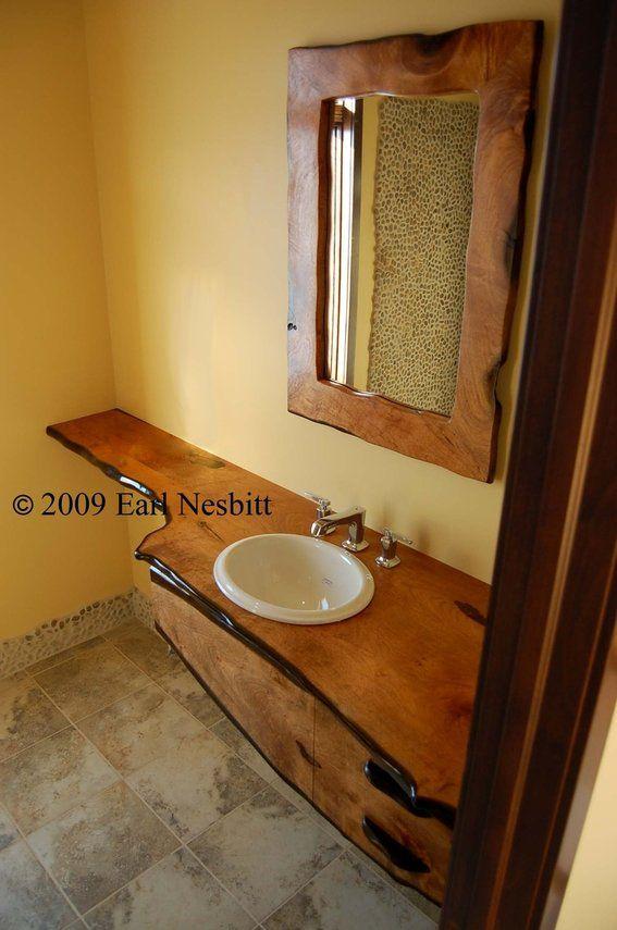 Custom Made Mesquite Bathroom Countertop Mirror Bathroom Beauteous Custom Bathroom Countertops