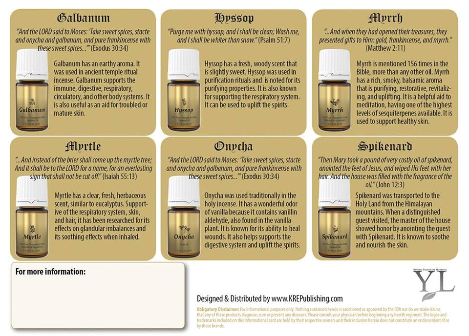 young living oils of the bible