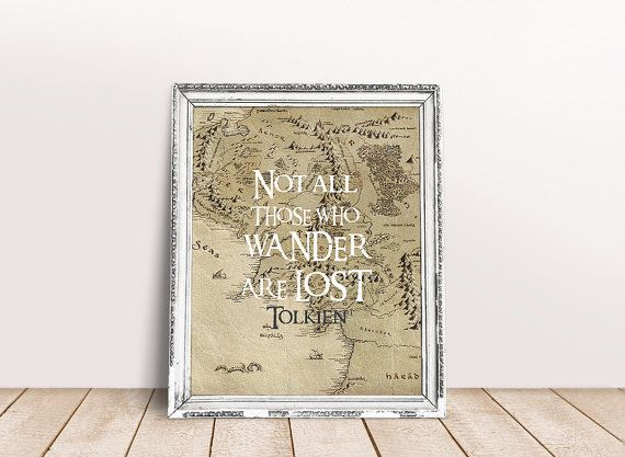 Lord Of The Rings Poster, LOTR Art, Tolkien Quote, Lord Of The Rings